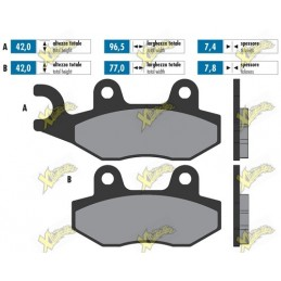 Polini original brake pads...