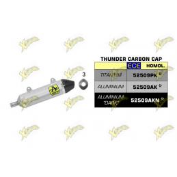 Terminale Thunder titanio con fondello carby Arrow 52509PK