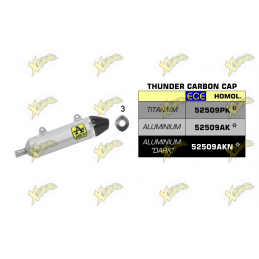 Thunder titanium silencer with carby end cap Arrow 52509PK
