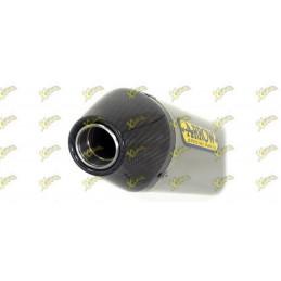 Arrow silencer Thunder model dark aluminum with carbon end cap 52509AKN