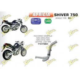 Collettore centrale non catalizzato per Aprilia Shiver 750 dal 208 al 2017 Arrow