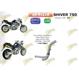 Non-catalyzed central manifold for Aprilia Shiver 750 from 208 to 2017 Arrow