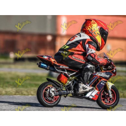 Minibike air filter racing X-F red