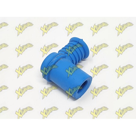 Cappuccio candela corto in silicone blu Polini