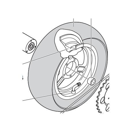 """CERCHIO POSTERIORE 6,5"""" RACING - Wheel POLINI Rim 6.5 """"RACING"""