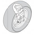 "CERCHIO POLINI ANTERIORE NERO 5 RAZZE 6,5"" STEEL GP3 -  WHEEL RIM BLACK 5-SPOKE 6.5 ""STEEL GP3"