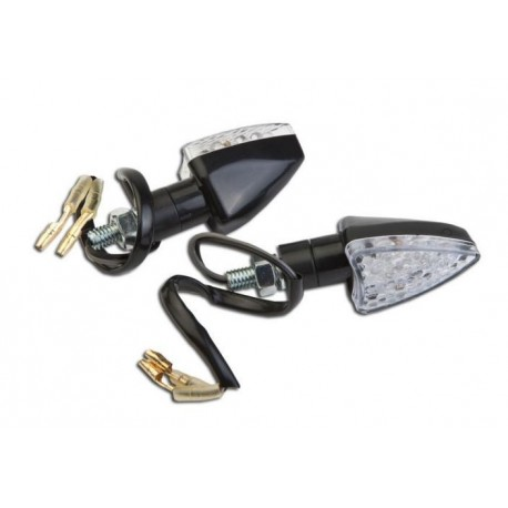 Coppia frecce omologate SUMMIT NERE con led - A pair of indicators approved SUMMIT BLACK with LEDs