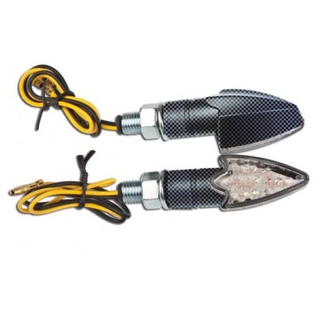 Coppia frecce omologate DELTA CARBON con led - Couple approved arrows DELTA CARBON with LEDs
