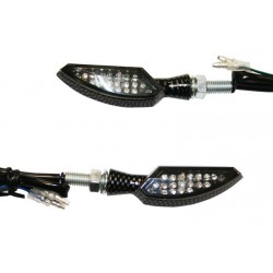 Coppia frecce omologate DAGGER CARBON con led - A pair of indicators approved DAGGER CARBON with LEDs