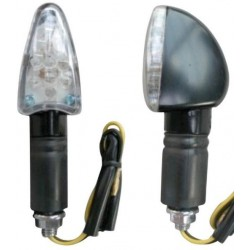 Coppia frecce omologate ARROW NERE con led - A pair of indicators homologated ARROW BLACK whit LEDs