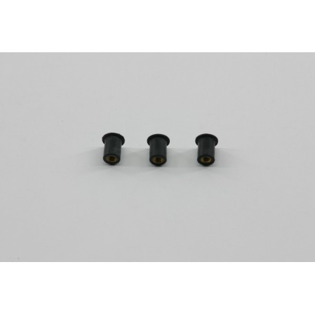 Kit inserti antivibranti per parafango post.3 pz./Kit anti-vibration inserts for the rear fender 3 pcs.
