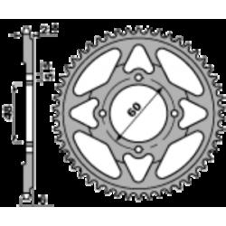 Corona minimoto POLINI D. 45 / 73 ORO