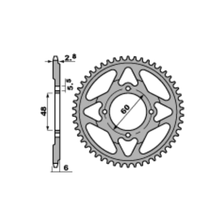 Crown minimoto POLINI D. 45/73 GOLD