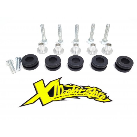 Kit viti + gommini + distanziali x carena/Kit screws + grommets + spacers x fairing