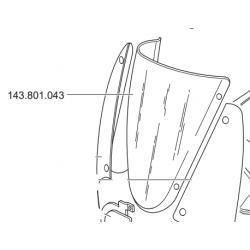 GLASS FOR FAIRING STEEL GP3