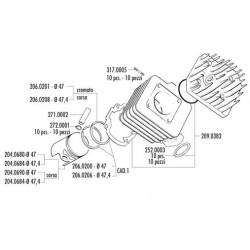 KIT HONDA GP-SP-SC01-DIO-KYMCO CX,DJY D.47
