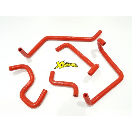 Kit tubi H20 sagomati silicone rosso per tutti i modelli / special Kit red water pipes shaped for all models
