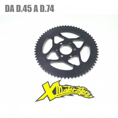 Universal minimoto crown Ergal black