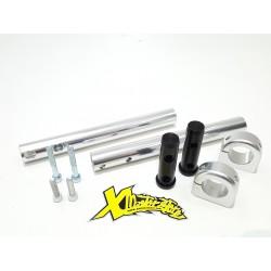 Coppia Manubri Alluminio più Morsetti Cnc diametro 25 DM